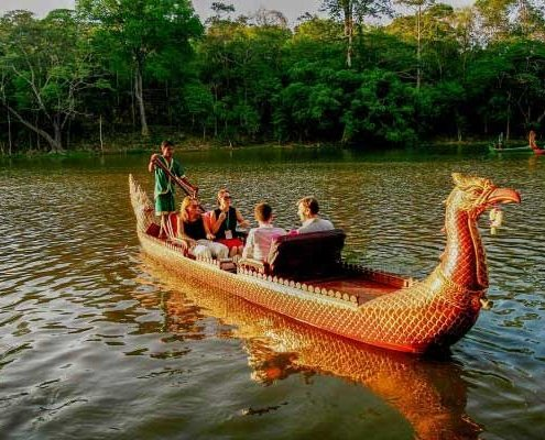 Kong Kear boat gondola Angkor Thom, Siem Reap, Cambodia