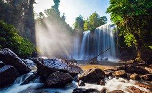 Phnom Kulen mountain Waterfall