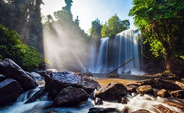 Phnom Kulen mountain Waterfall