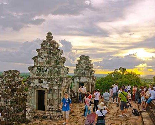 sunrise Phnom Bakheng, Siem Reap, Cambodia